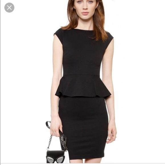 Alice Olivia Dresses Alice Olivia Employed Black Peplum Dress